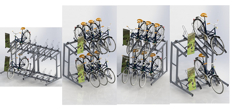 2 layers Bike Bicycle Display Stand Rack