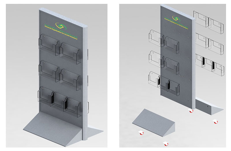 brochure holder floor stand display