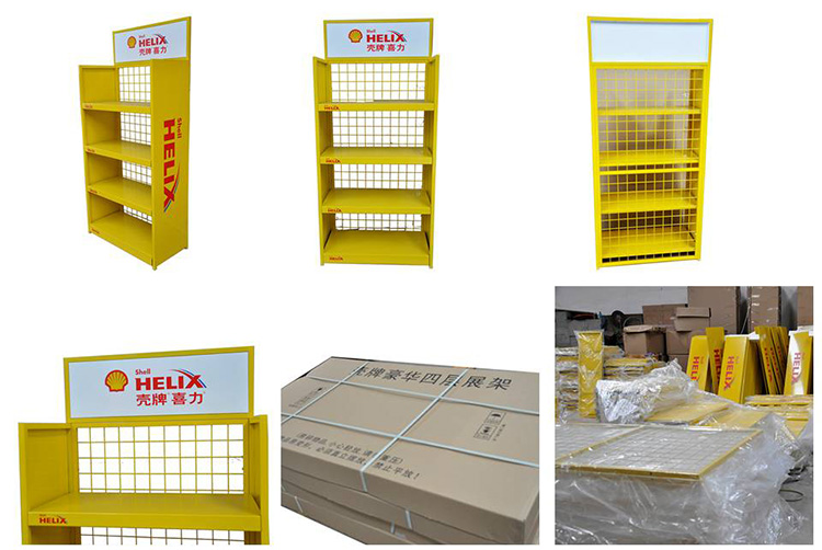 oil display stand made by solid displays
