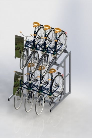 bike bicycle display stand rack
