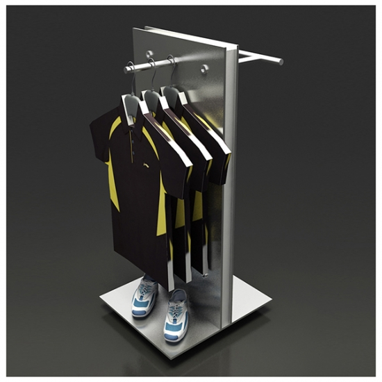 clothing gondola display