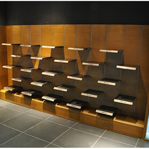 shoe store wall display