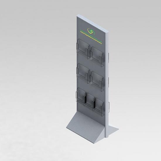 brochure floor stand display