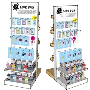 double side slatwall display stand for collections